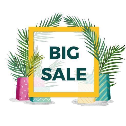Acquerello Summer Sale Background