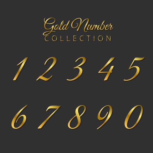 Luxury Golden Number Collection