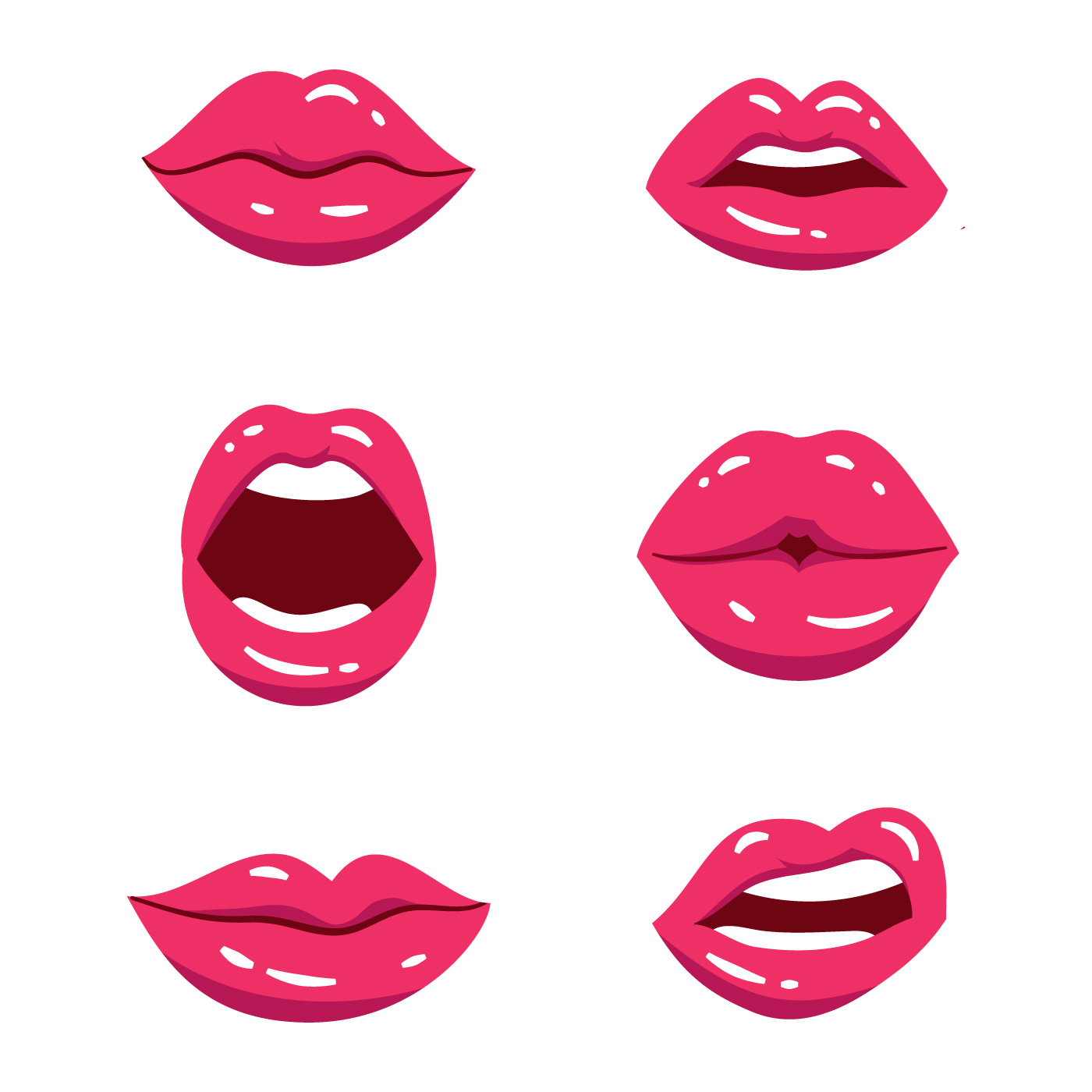 pink lips free vector art 3542 free downloads