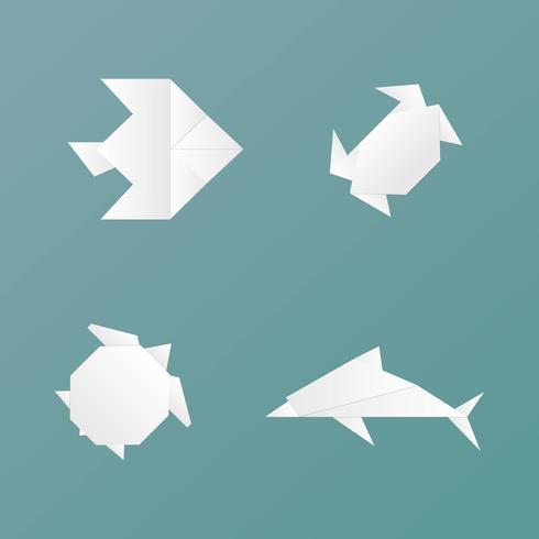 Origami Animales vector