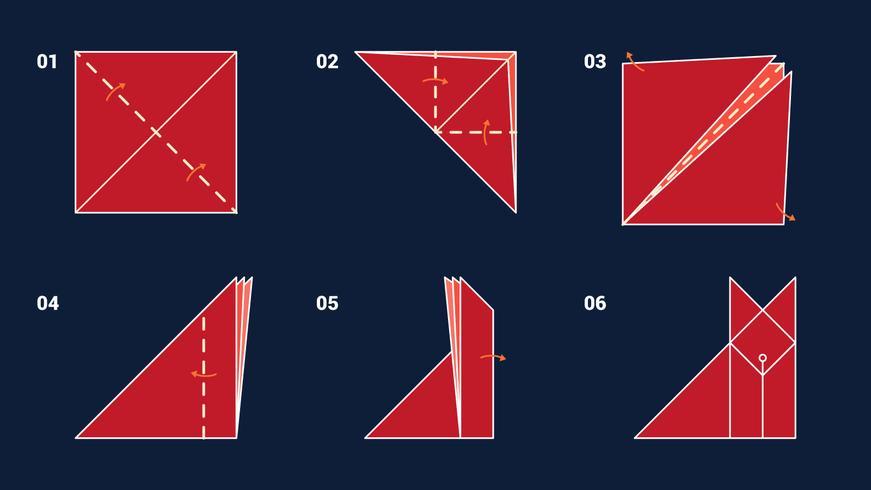 Vecteurs d'animaux géniaux Origami