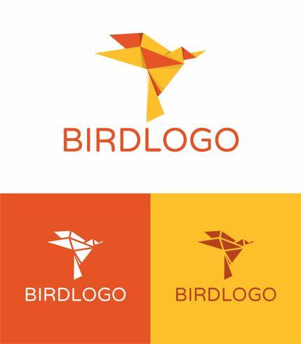 Logotipo do pássaro de origami
