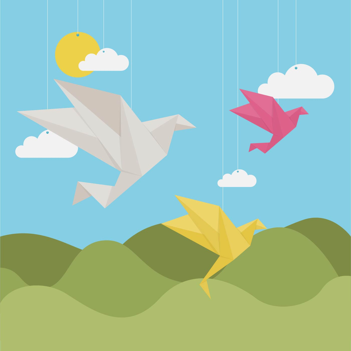origami crane free vector art 631 free downloads