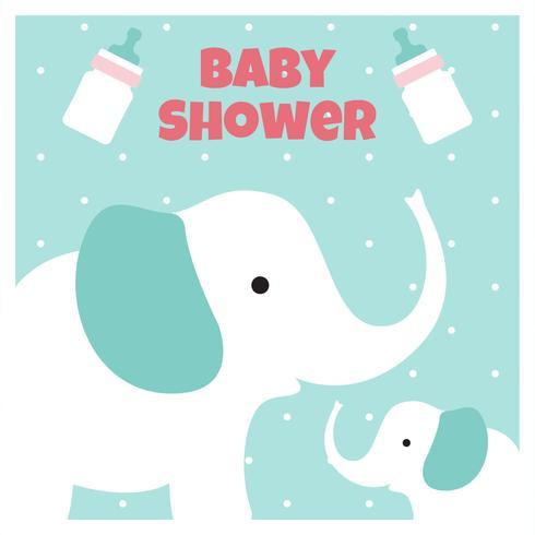 Fond de douche de bébé éléphant