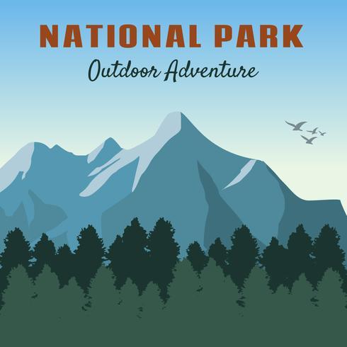 Ikoniska nationalparkvektorer