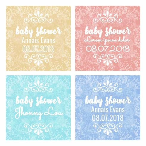 Vector Colorful Baby Shower Backgrounds
