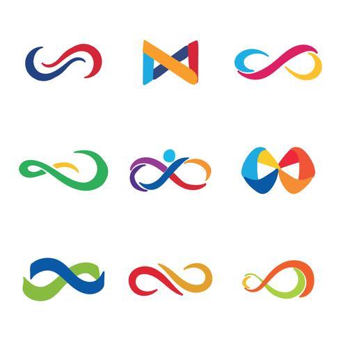 Färgglada Infinity Logos
