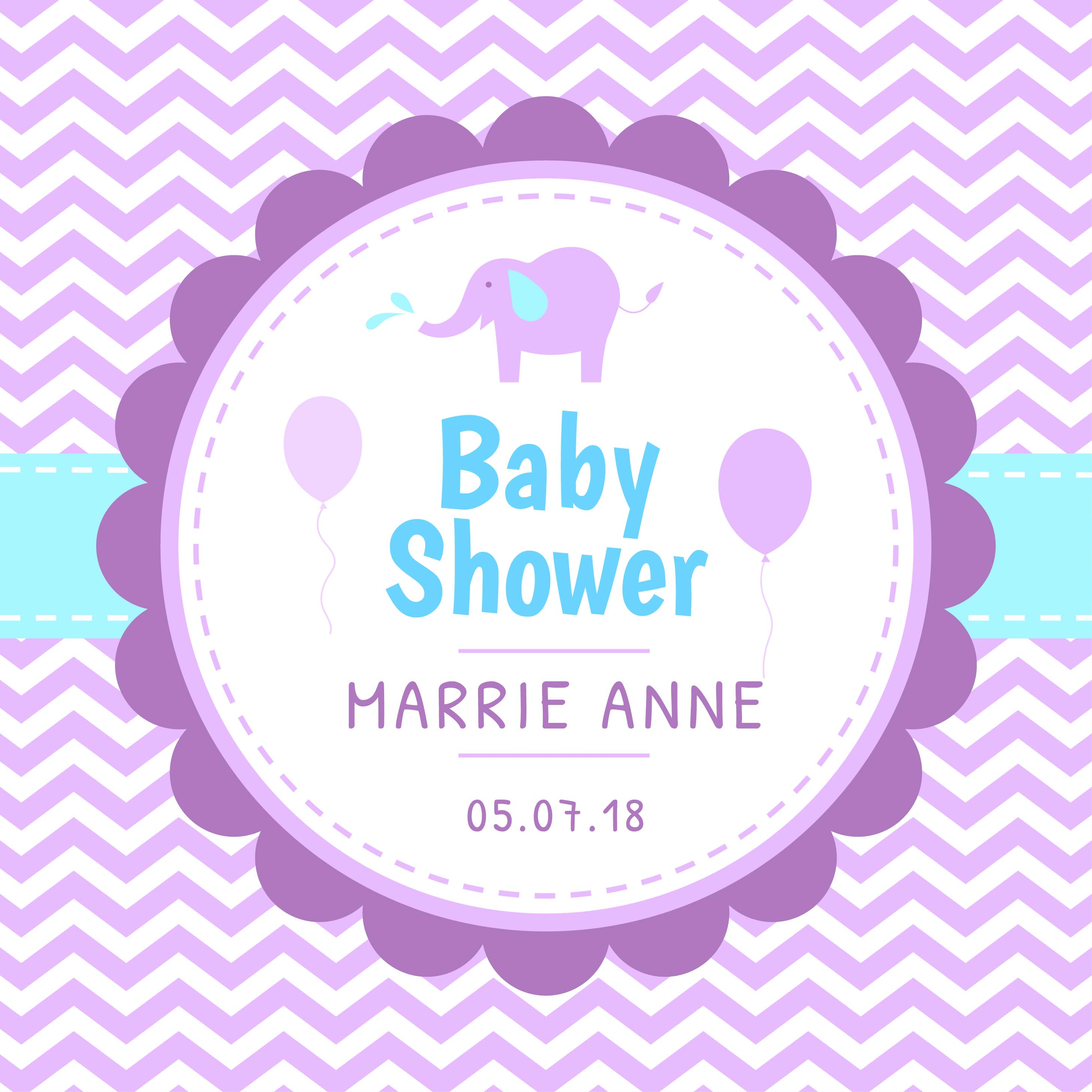 baby shower template vector