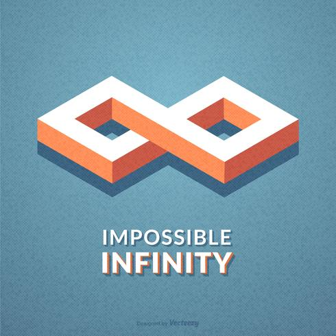 Extracto isométrico Imposible Infinito Vector símbolo