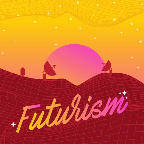 Vecteur de ville futurisme