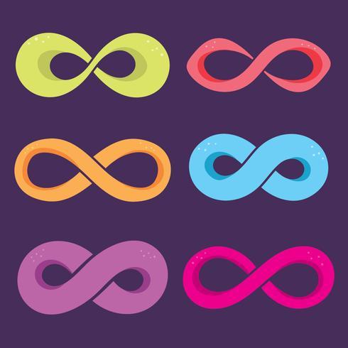 oändlighet symbol vektor