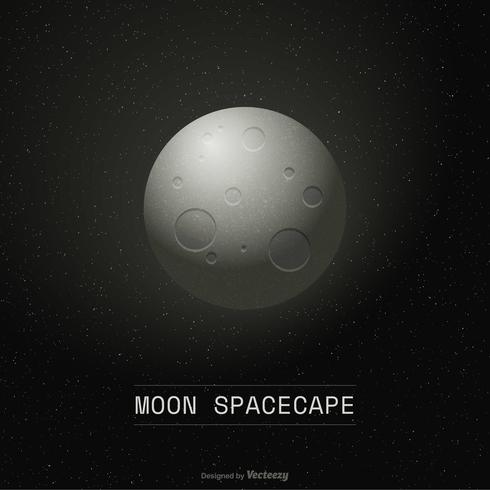 Cartaz do vetor do Spacecape da lua