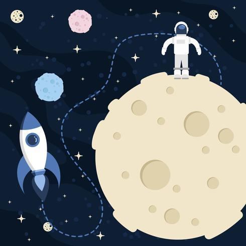 Fundo de espaço de lua