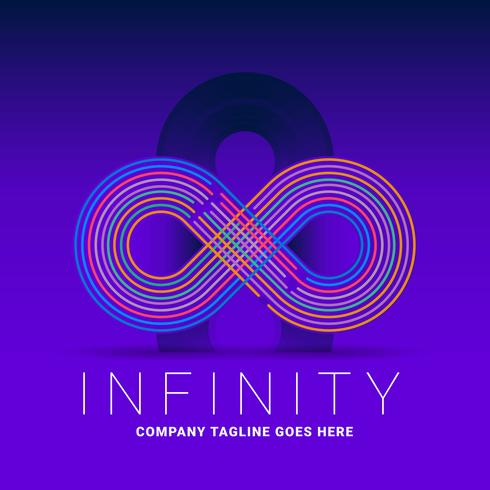Infinity Colorful Line Logo Template