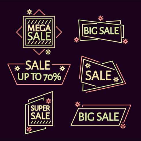 Neon Sale Vector