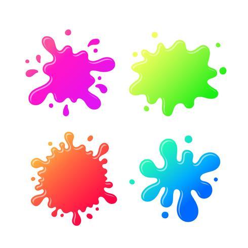 Desenhos animados coloridos da mancha de tinta