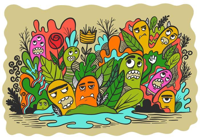 Monsters in een tuin
