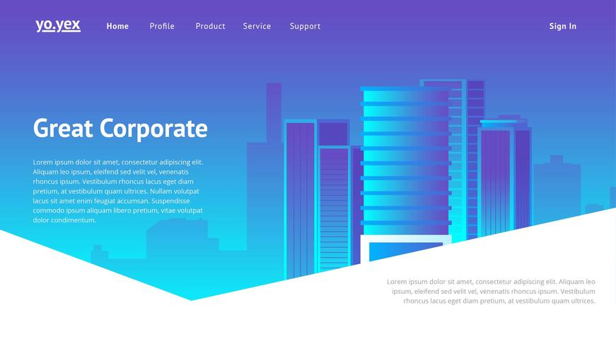 Corporate Website Header Vektor