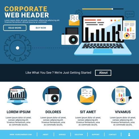 Corporate Web Header