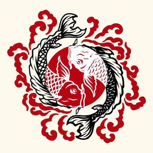 Peces tatuaje japonés