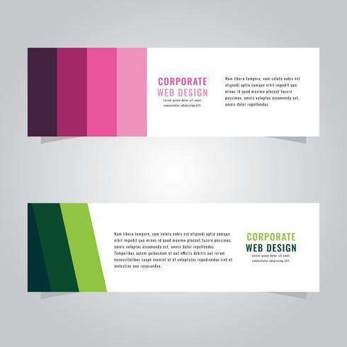 Encabezado web corporativo verde y rosa