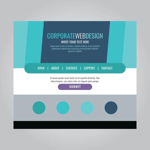 Encabezado web corporativo azul