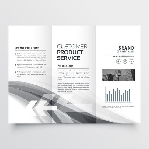 abstract creative business brochure three fold