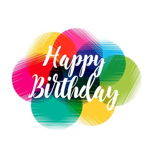 colorful abstract happy birthday design