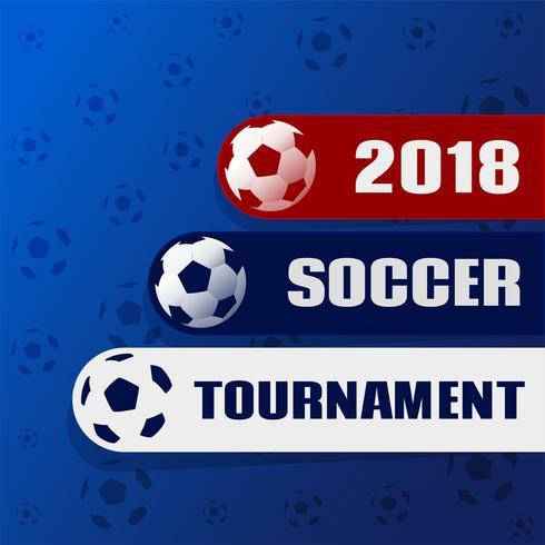 2018 soccer tournament stylish background