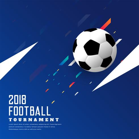 stylish soccer game blue background with football