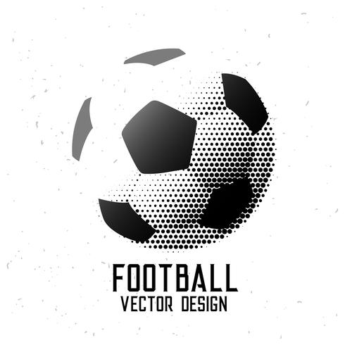 soccer football halftone abstract design