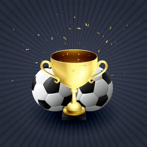 golden trophy cup football winner celebration background