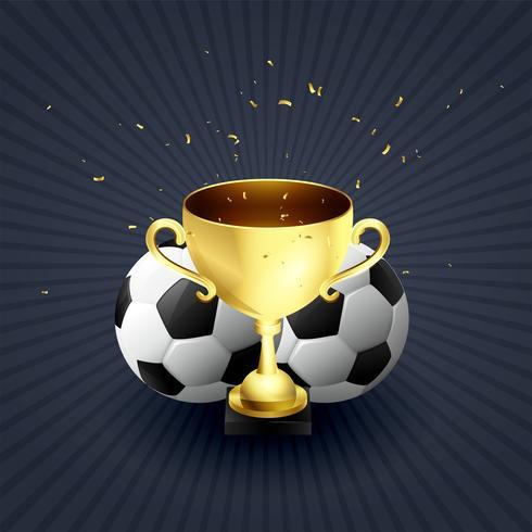 trofeo de oro copa fútbol ganador celebración fondo