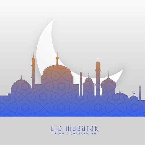 eid festival beautiful greeting scene background