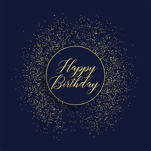 happy birthday stylish card design with glitter