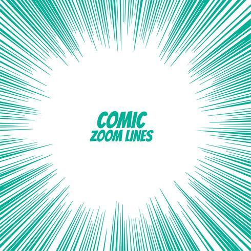 Fondo de líneas de zoom de velocidad cómica