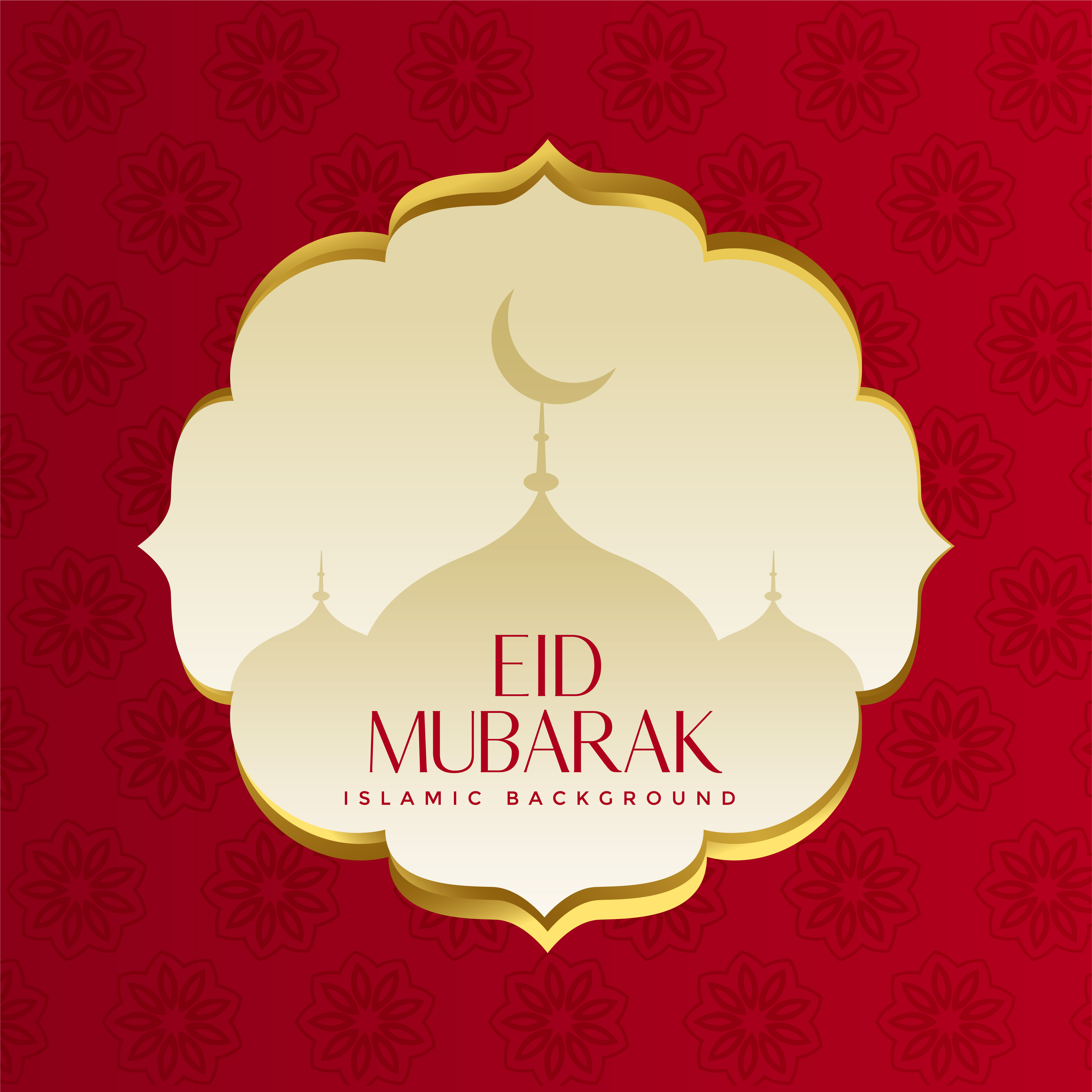 Muslim Islamic Eid Festival Greeting Design Download Free Vector