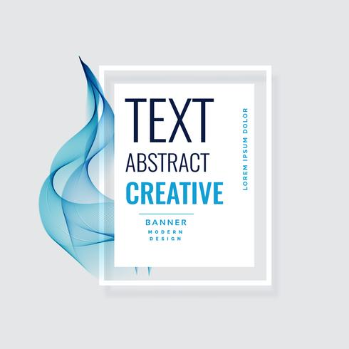 abstract blue wave creative banner design
