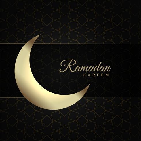 Ramadán kareem fondo con luna
