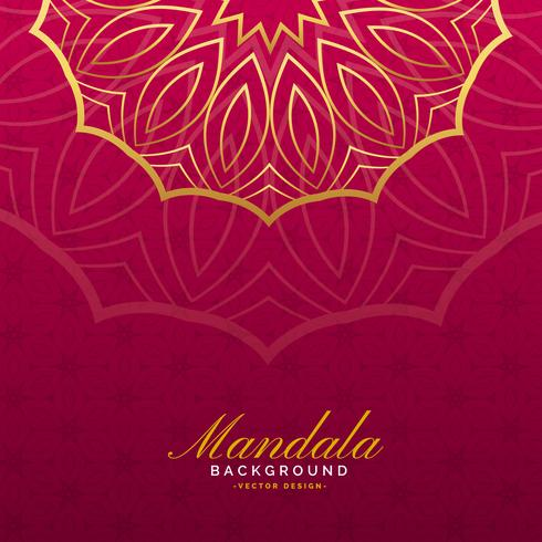 luxury background with mandala art