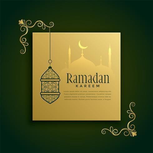 islamic ramadan kareem greeting decoration