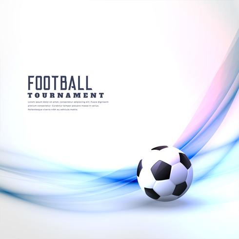 stylish football background with abstract wave
