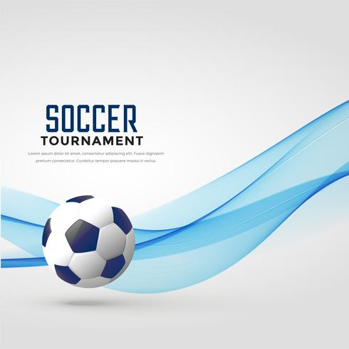 soccer tournament background with blue wave