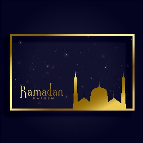 ramadan kareem islamic month card design