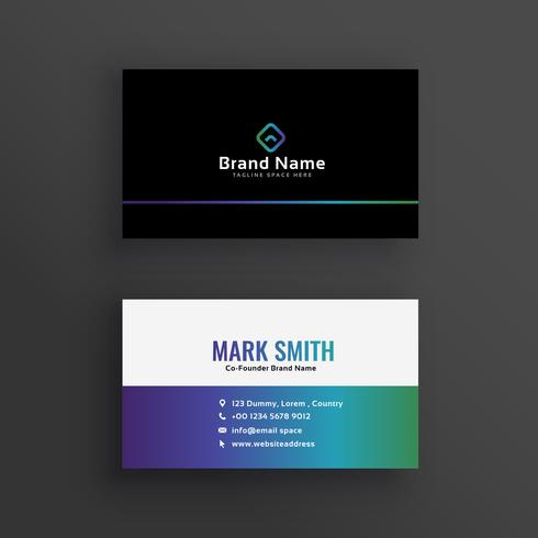 clean vibrant business card design