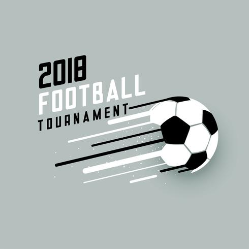 2018 football tournament background with abstract soccer ball
