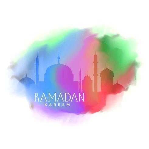 colorful background for ramadan kareem greeting
