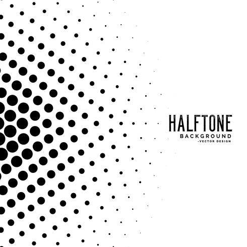 stylish circle haltone shape background