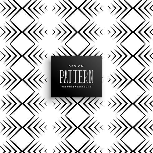 diseño de línea de estilo azteca patrón
