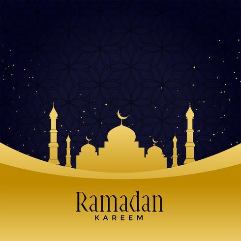 belle mosquée d'or avec fond étoile